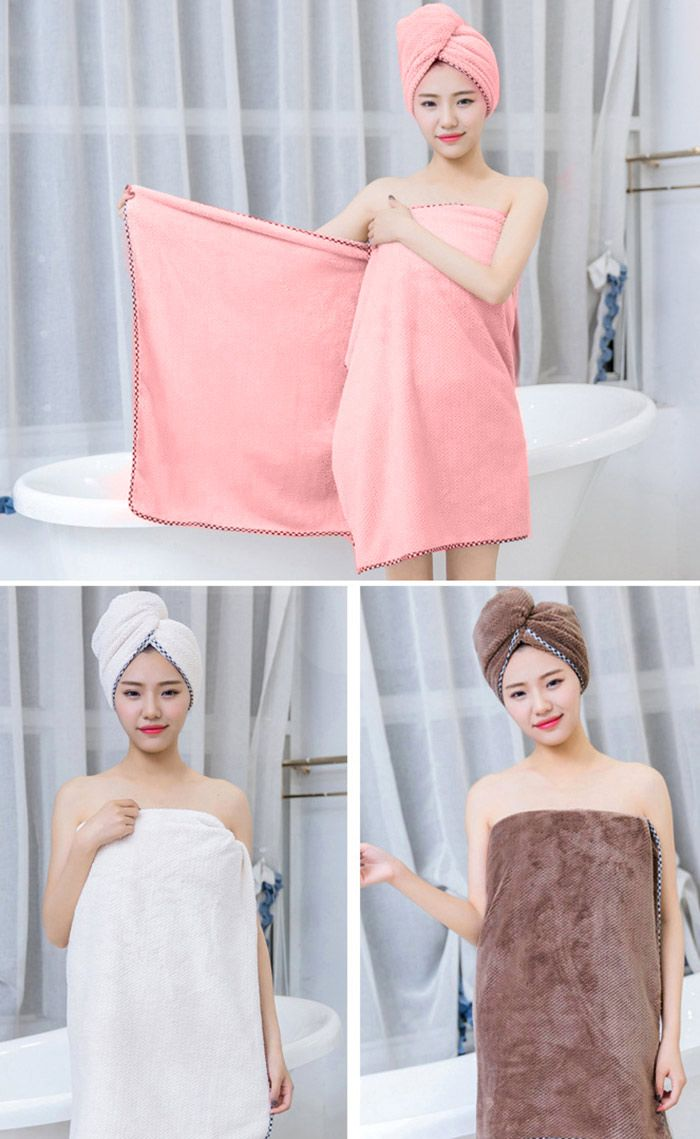 Pineapple Grid Coral Fleece 3PCS Soft Bath Towel Set