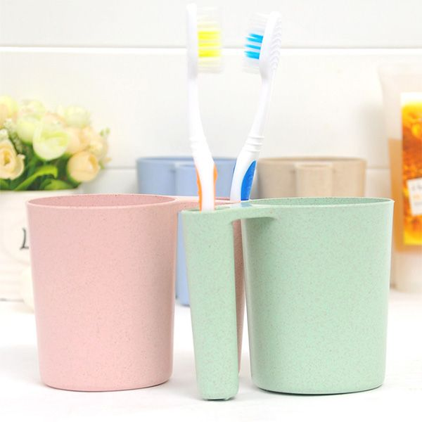 Wheat Straw Wash Gargle Tooth Mug Toothbrush Cup