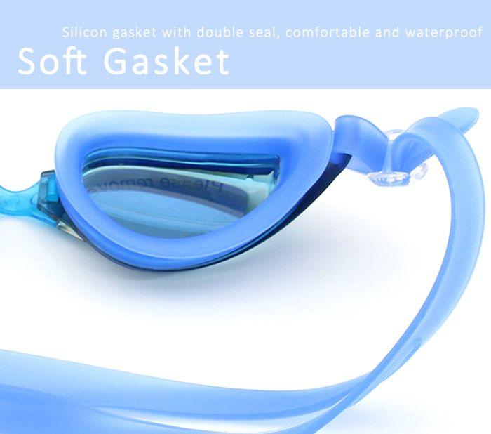 SportAnti Fog UV ProtectionWaterproof Plain Mirrored Swimming Goggles