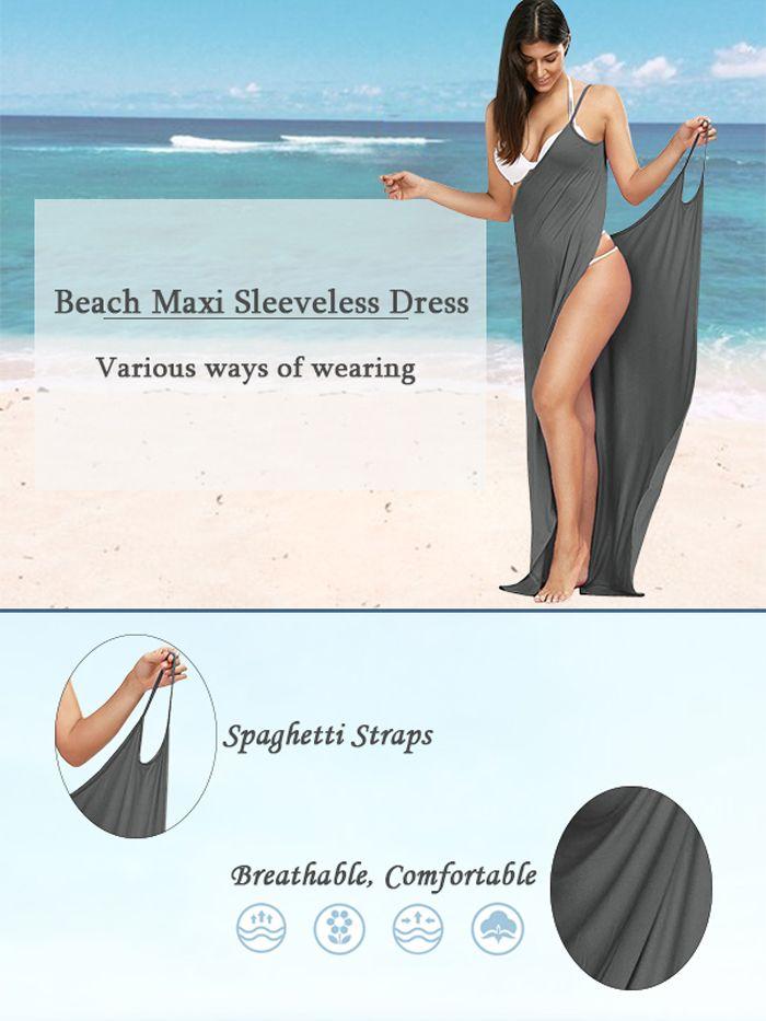 Beach Maxi Wrap Slip Dress