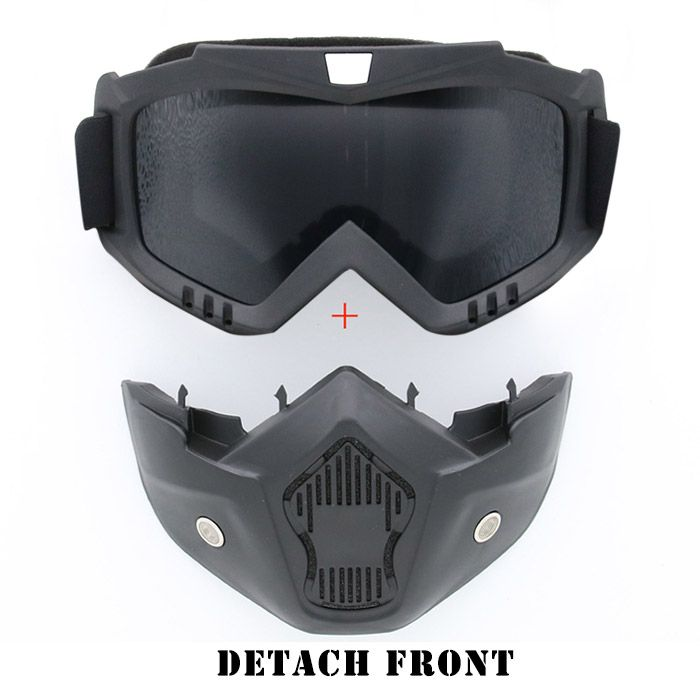 Windproof Detachable Breathable Motorcycle Goggles