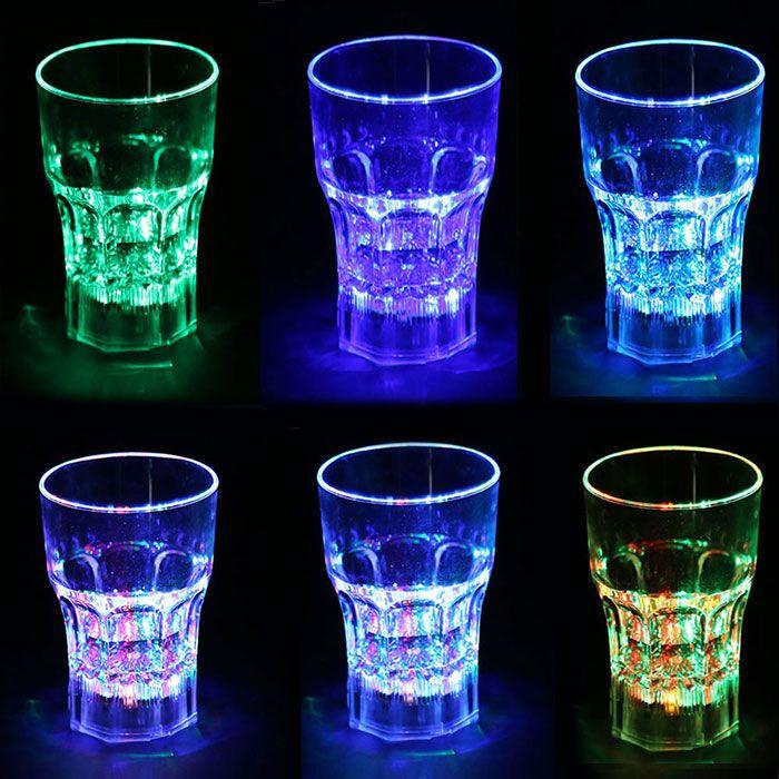 Inductive Rainbow Color LED Flash 285ml Whisky Mug