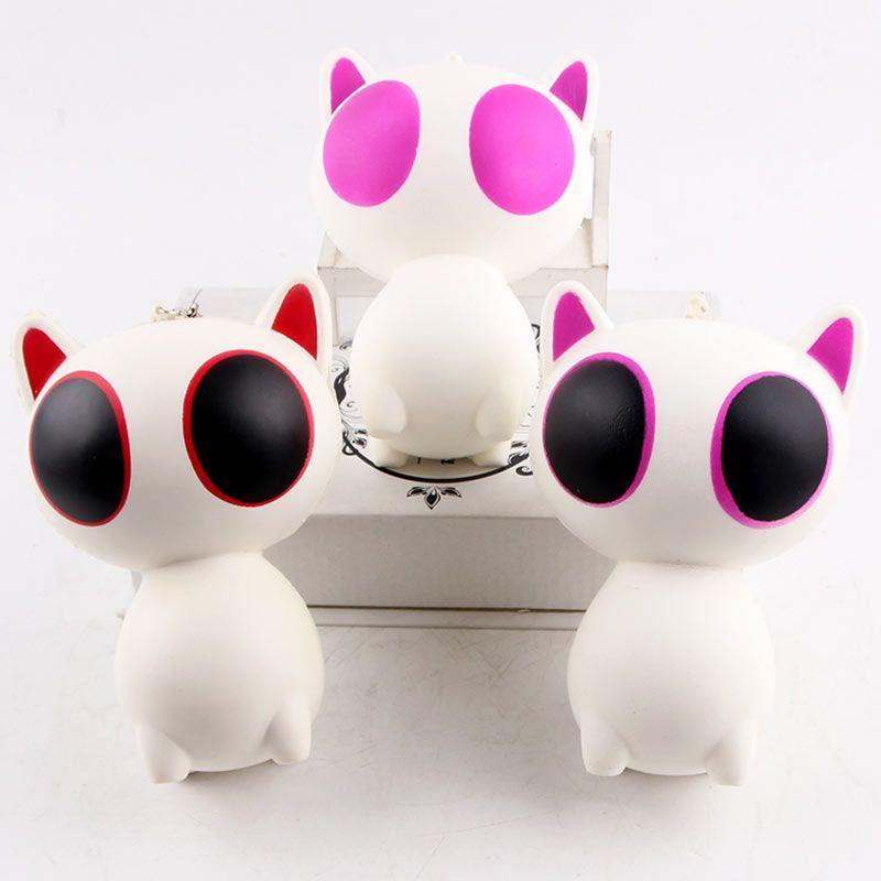 Stress Relief Cartoon Big Eyes Cat Squishy Toy