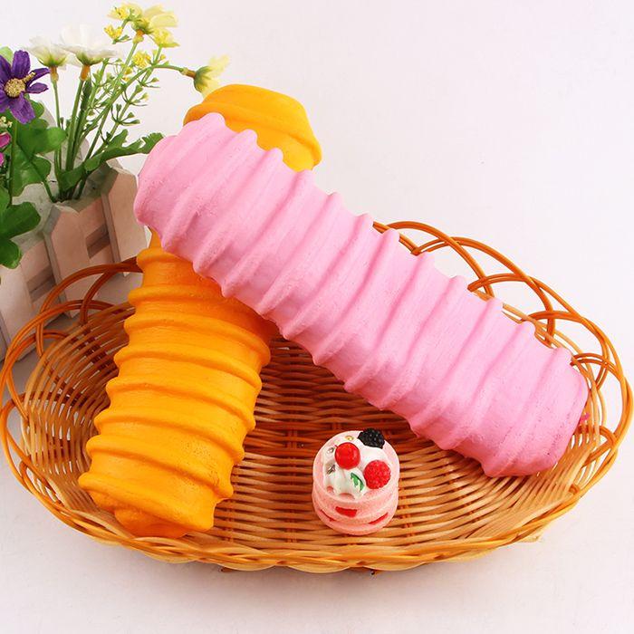 1Pcs Slow Rising Caterpillar Bread Squishy Toy