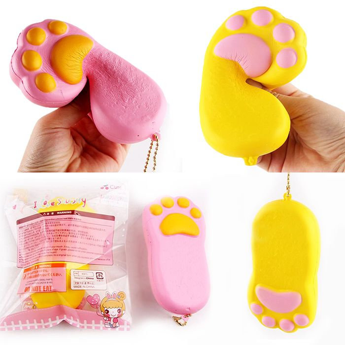 Antistress Squishy Toy Bear Claw Simulation Cake