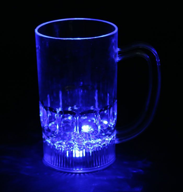LED Colour Changing Liquid Activated Lights Medium Beer Mug