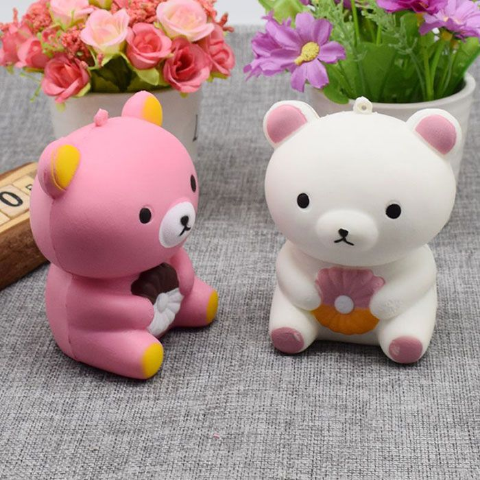 Squishy Bear Toys : Stress Relief Bear Simulation Animal Slow Rising Squishy Toy, PINK in Squishy Toys DressLily.com