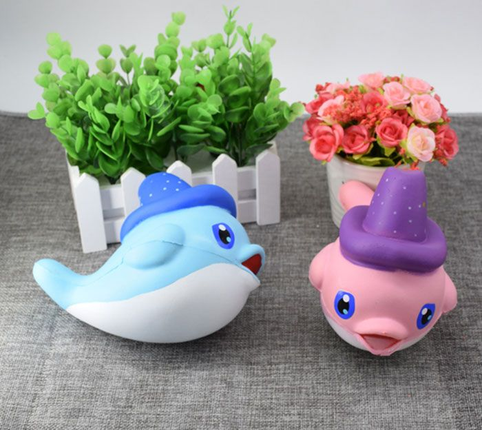 Cartoon Scented Simulation Magic Hat Dolphin Squishy Toy