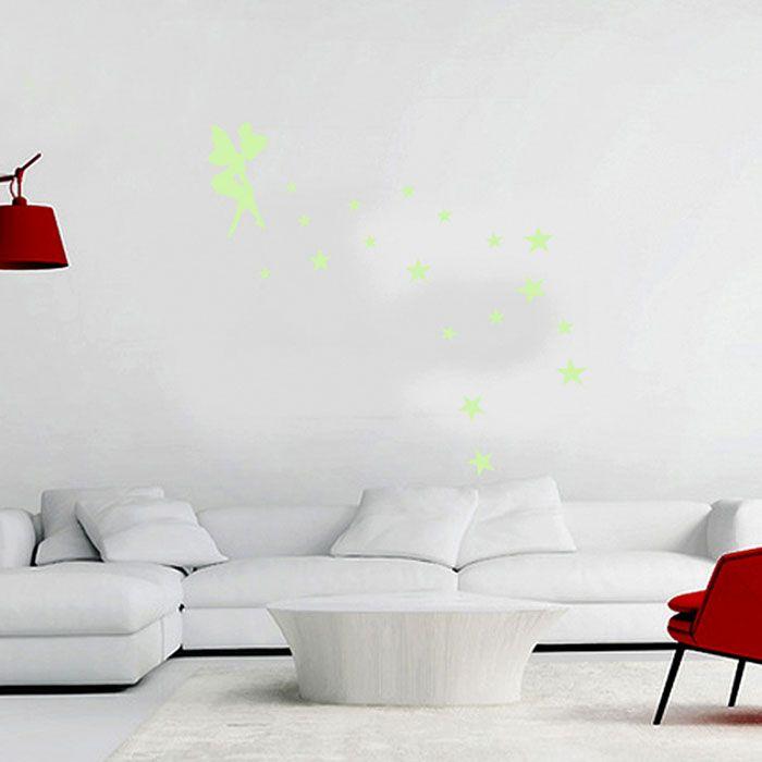 Creative Fluorescence Fairy Star Luminous Switch Wall Stick