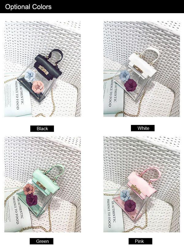Flower Mini Shoulder Clear Handbag