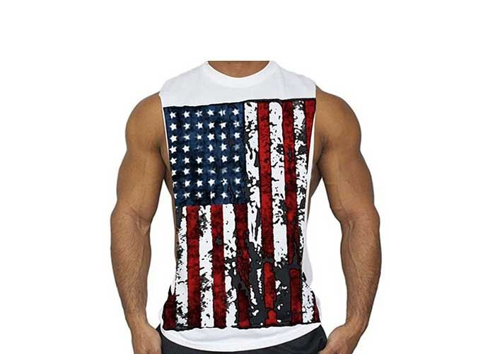 Muscle 4th of July American Flag Patriotic Tank Top