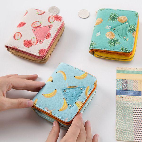 Bifold Fruit Print Small Wallet