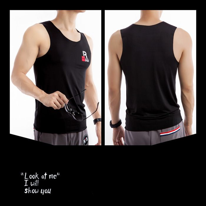 Round Neck Rayon Fitted Quick Dry Tank Top