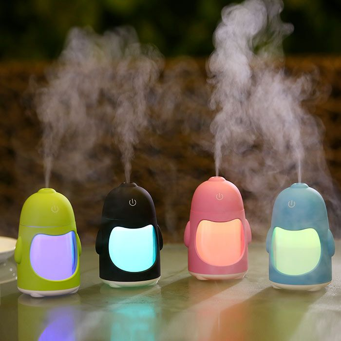 Colorful Night Light USB Charging Penguin Mini Humidifier