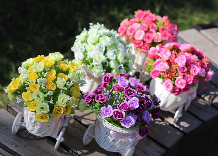Home Living Room Decoration Artificial Flowers Set