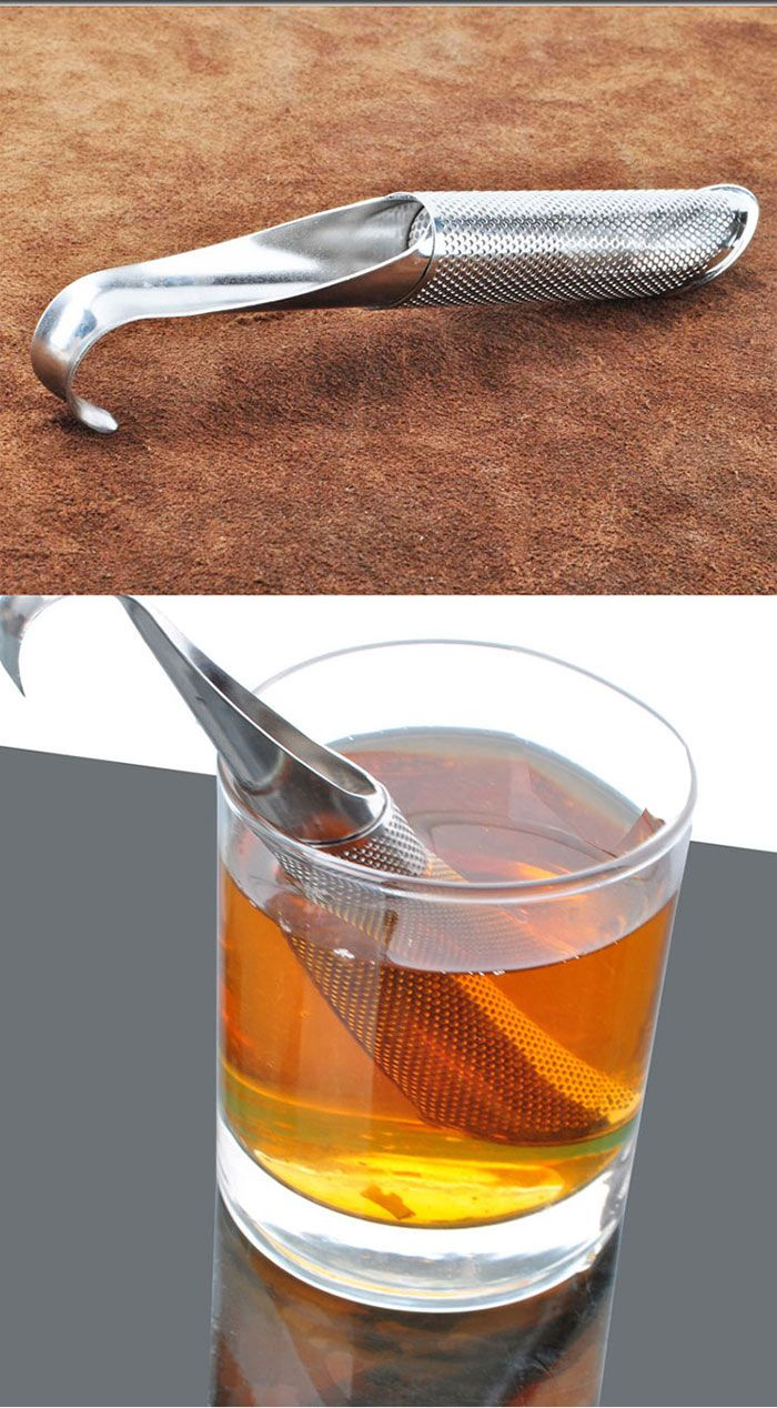 Stainless Steel Pipe Shape Tea Strainer Filter