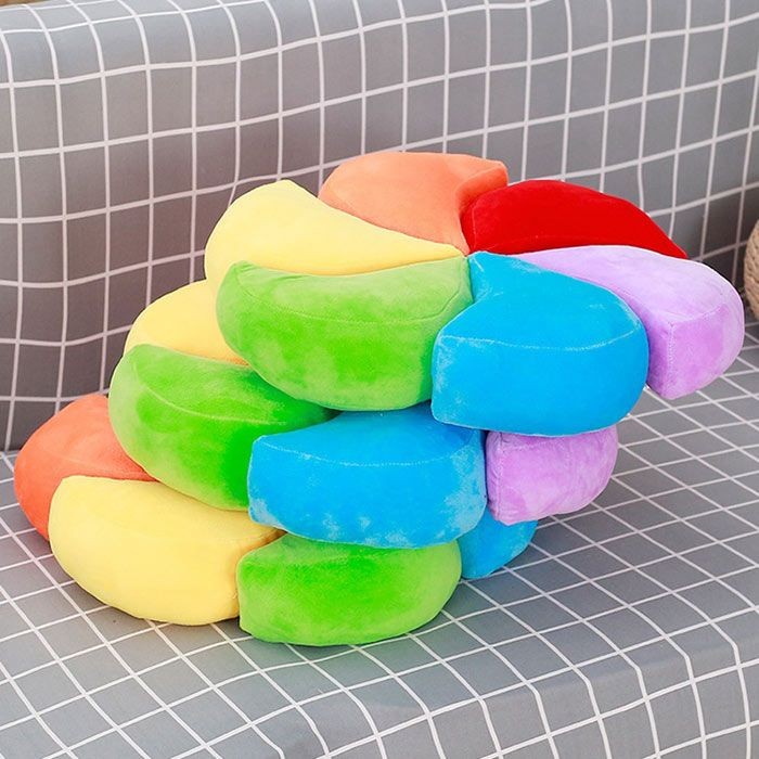Stuffed Toy Rainbow Pinwheel Cushion Pillow