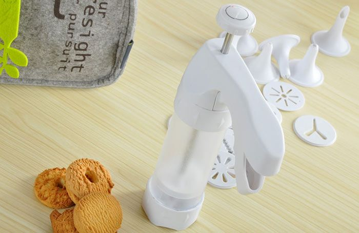 Cookie Gun Cutter Mold Nozzle Baking Tools Set