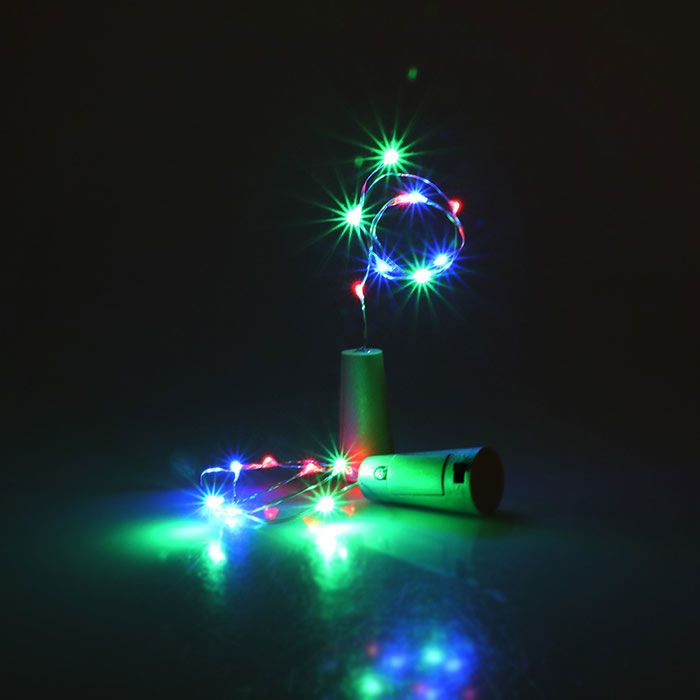 Colorful Decorative 2PCS Bottle Stopper LED String Light