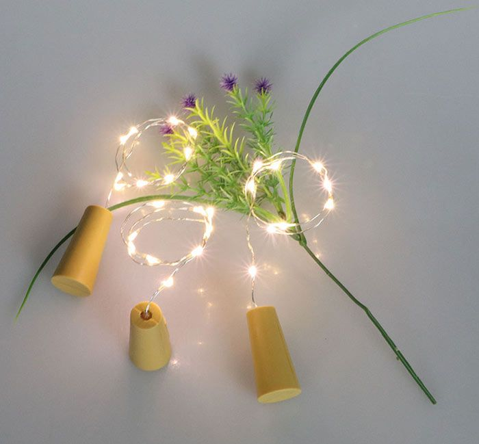 Christmas Decorative 2PCS Bottle Stopper LED String Light