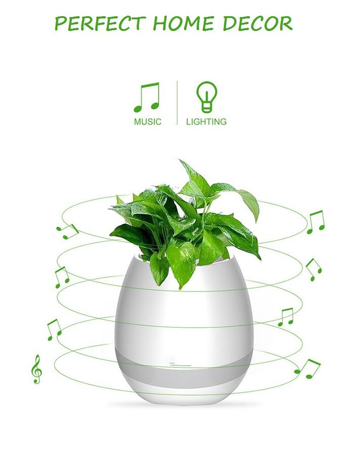 Bluetooth Speaker Colorful Night Light Music Flower Pot