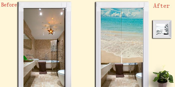 Beach Style Practical Bathroom Door Curtain