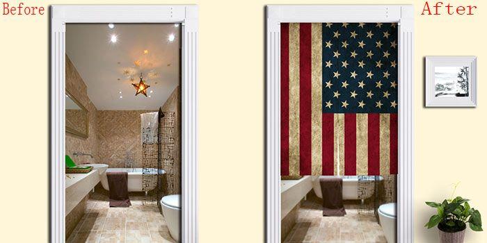 USA Flag Pattern Decorative Door Curtain
