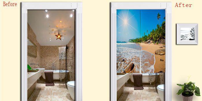 Sunshine Beach Print Home Product Door Curtain