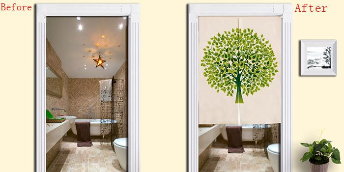 Home Product Tree Pattern Artistic Door Curtain