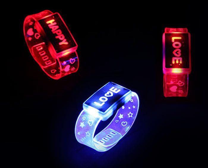 Flash Letter Party Decorative Watch Shape Light
