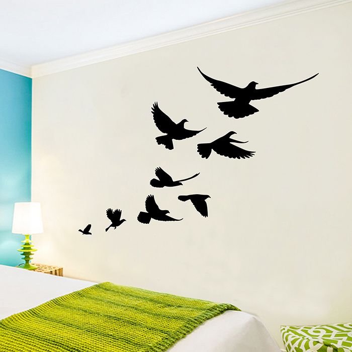Bevy Birds Vinyl Home Decor Wall Sticker