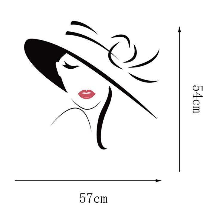 Vinyl Girl Wall Art Sticker For Bedroom