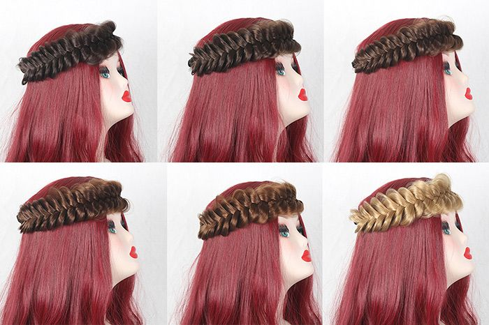 Hair Extension Large Braided Headband