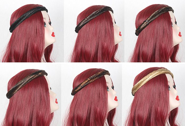 Colormix Fishbone Braided Headband