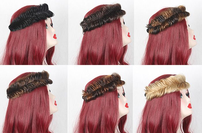 Large Fishbone Colormix Braided Headband