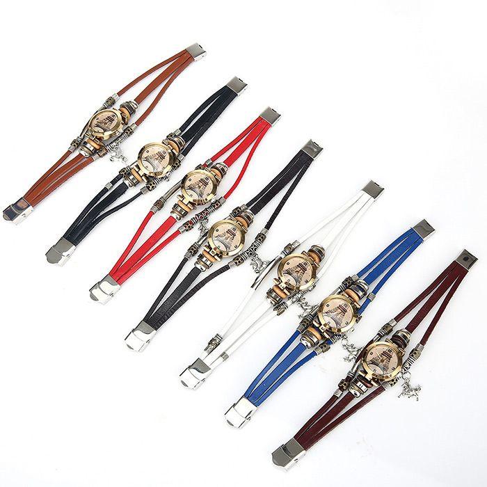 Effiel Tower Face Charm Bracelet Watch