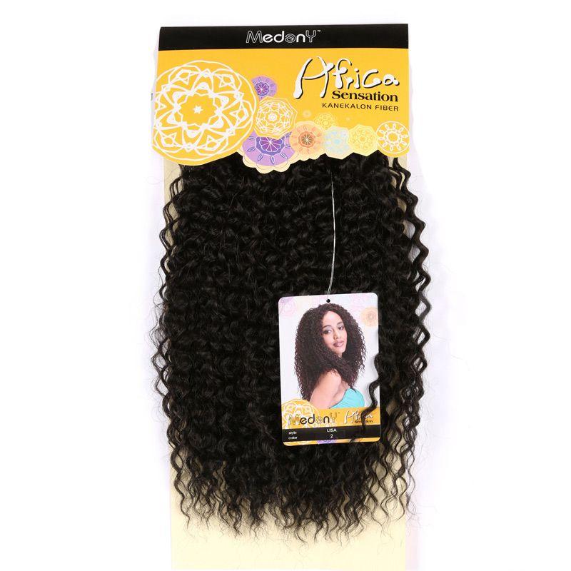 Medium Shaggy Deep Wave Synthetic Hair Weave