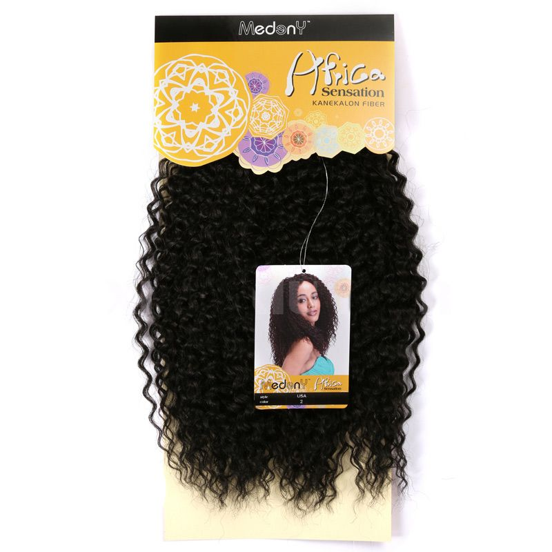 Medium Shaggy Deep Wave Synthetic Hair Weave