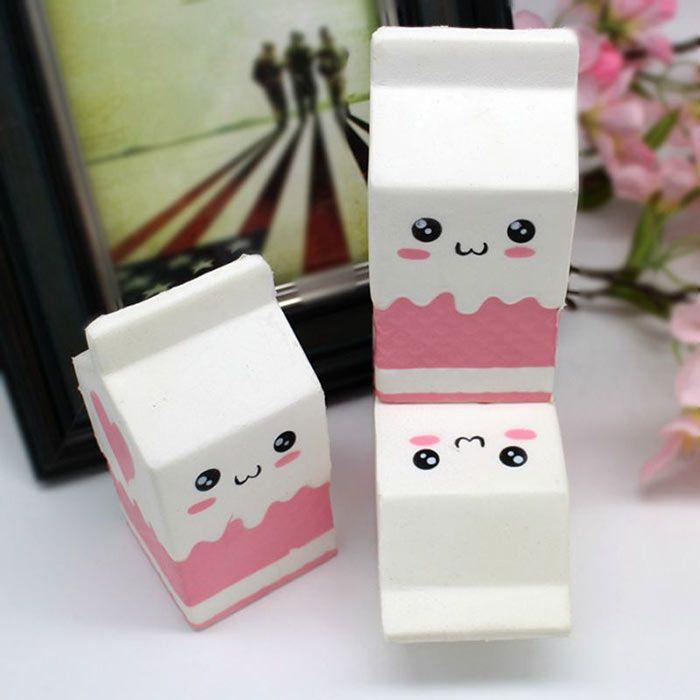 Simulation Milk Box PU Stress Relief Squishy Toy