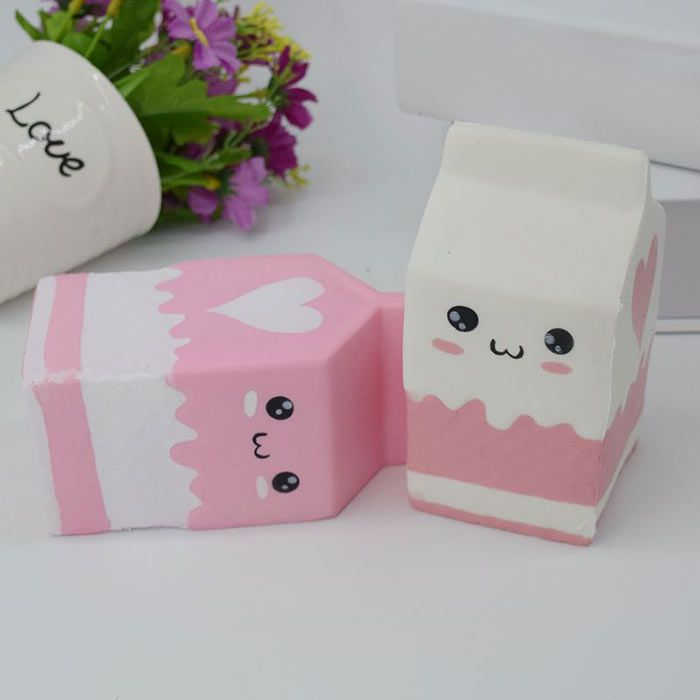 Simulation Milk Box PU Stress Relief Squishy Toy