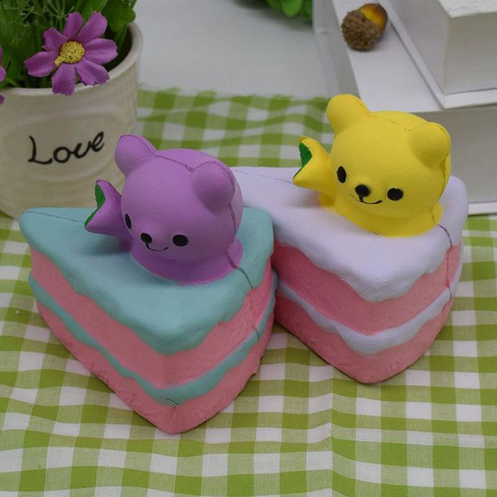 Simulation Cake Bear PU Slow Rebound Squishy Food