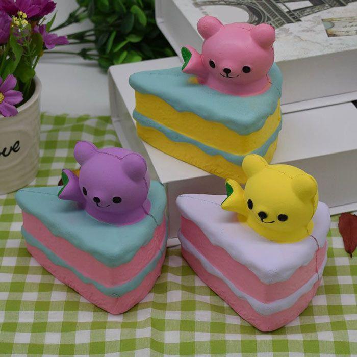Simulation Cake Bear PU Slow Rebound Squishy Food