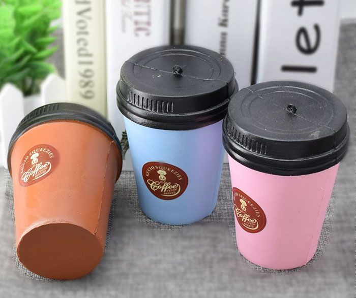 Simulation Coffee Cup PU Squishy Toy