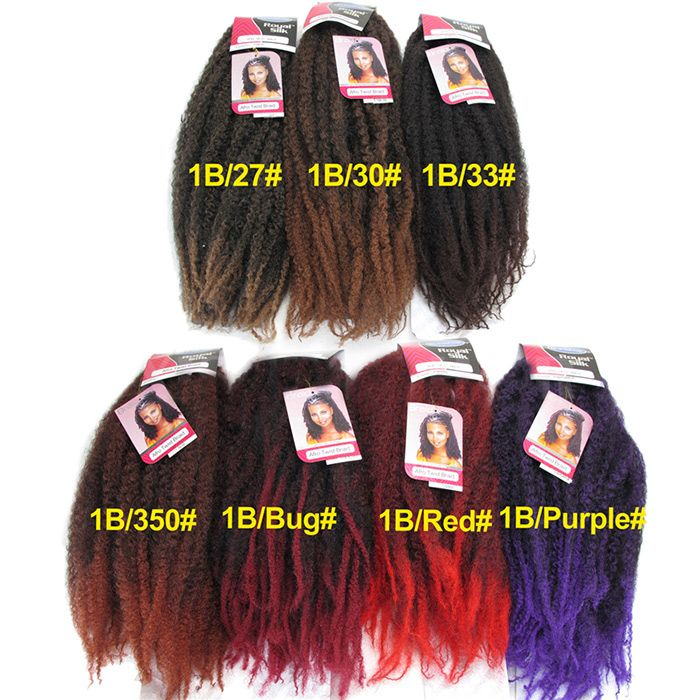 Long Fluffy Afro Kinky Curly Colormix Synthetic Hair Weft