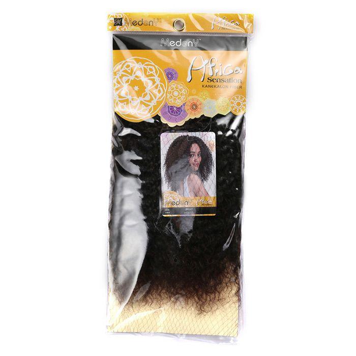 Medium Shaggy Afro Kinky Curly Synthetic Hair Weft