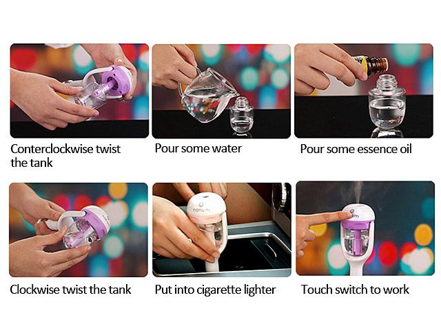Creative Mini Aromatherapy Car Humidifier