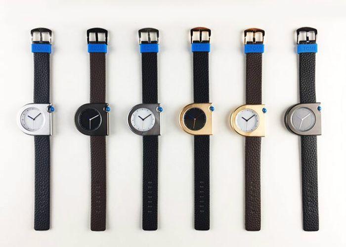 Faux Leather Strap Minimalist Semicircle Watch
