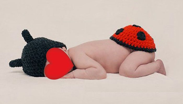 Ladybird Knitted Photography Clothes Set For Baby
