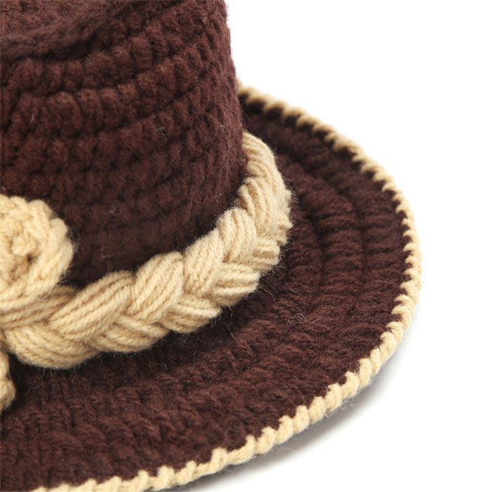 Cowboy Knitted Photography Clothes Set For Baby