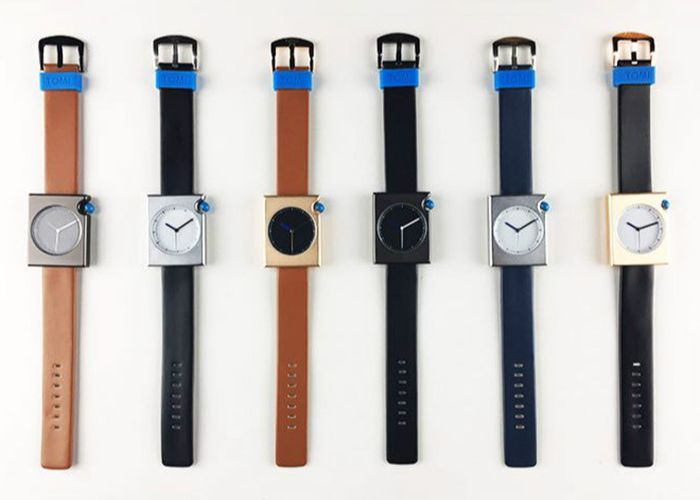Faux Leather Strap Rectangle Minimalist Watch